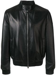 classic zipped leather jacket Corneliani
