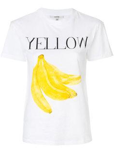 футболка с бананами Ganni