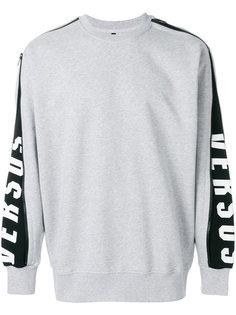 zip-sleeve logo sweatshirt  Versus