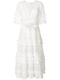 длинное платье с рюшами Zimmermann