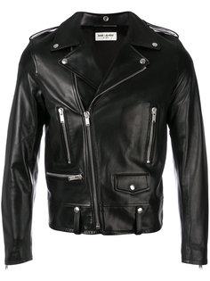 байкерская куртка на молнии Saint Laurent