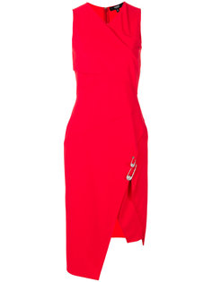 sleeveless fitted wrap dress Versus