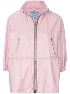 укороченная куртка на молнии Prada