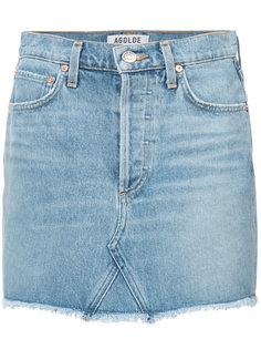 приталенная джинсовая юбка Agolde