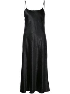 платье шифт на бретелях  Vince