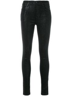 вощеные джинсы кроя скинни J Brand