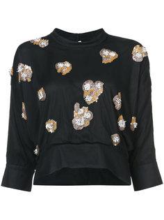 декорированная укороченная блузка  Rachel Comey