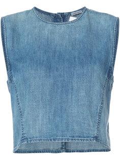 джинсовый топ без рукавов  Rachel Comey