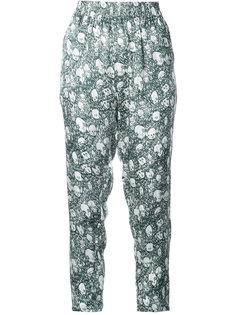 укороченные брюки  с принтом портретов Shrimps