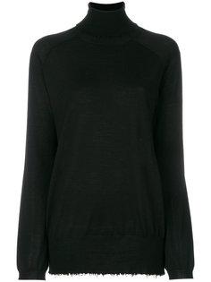 свитер с отворотной горловиной  и неообработанными краями Mauro Grifoni