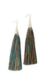 Eddie Borgo 15cm Silk Tassel Earrings