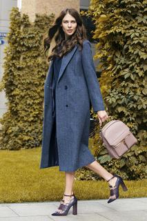 Длинное шерстяное пальто La Reine Blanche