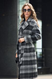 Пальто-халат в клетку La Reine Blanche