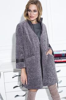 Утепленное пальто-трансформер из вязаной овчины Virtuale Fur Collection