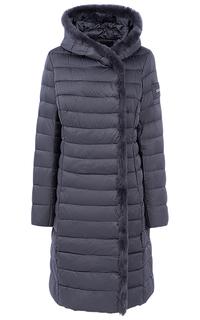 Пальто на искусственном пуху с отделкой мехом кролика LE Monique