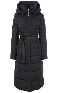 Пальто на искусственном пуху с поясом La Reine Blanche