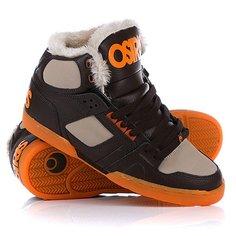 Кеды кроссовки утепленные Osiris Nyc 83 Shr Brown/Orange/Sher