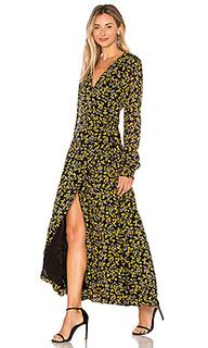 Платье с запахом marceau georgette - Ganni