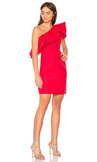 Платье с воланом one shoulder - Halston Heritage