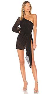 Прозрачное мини-платье с одним рукавом lilou - h:ours