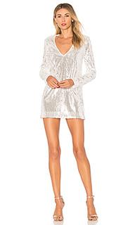 Платье мини с пайетками и длинными рукавами ash - MAJORELLE