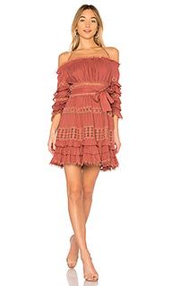 Платье с открытыми плечами corsair - Zimmermann