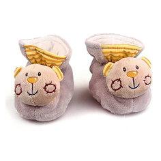 """Пинетки с игрушкой-погремушкой Жирафики """"Мишки"""""""