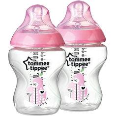 """Бутылочки для кормления Tommee Tippee """"Closer To Nature"""" с антиколиковым клапаном 2 шт., 260 мл, розовые"""