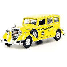 "Коллекционная машина Технопарк ""Ретро"" (желтая) Toystate"