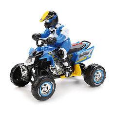 Квадроцикл Toystate с гонщиком (бело-синий)
