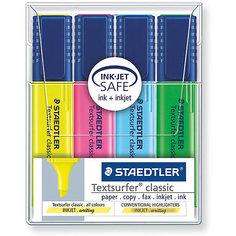 Набор маркеров-текстовыделителей Classic, 4 цвета, 1-5мм, Staedtler