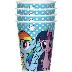 """Набор стаканов для праздника My Little Pony """"Вместе веселее"""" 4шт. Daisy Design"""