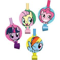 """Набор праздничных свистков My Little Pony """"Дуделка"""" 4шт. Daisy Design"""