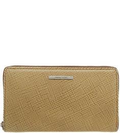 Кожаный кошелек бежевого цвета Gianni Conti