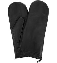 Кожаные варежки с меховой подкладкой Bartoc
