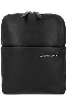 Кожаная сумка с широким плечевым ремнем Mandarina Duck
