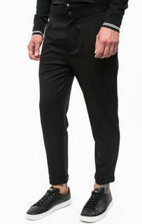 Зауженные черные брюки с отворотами Calvin Klein Jeans
