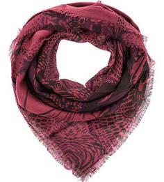 Бордовый платок из шерсти Eleganzza