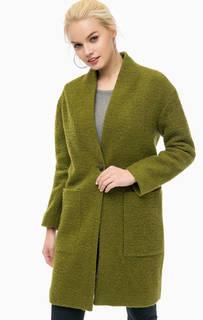Пальто цвета хаки с накладными карманами More & More