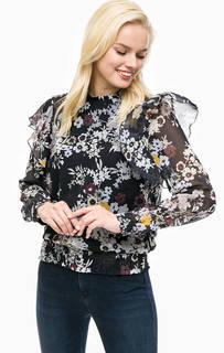 Блуза с цветочным принтом и подкладкой из вискозы More & More
