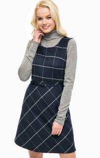Платье в клетку на ремне More & More