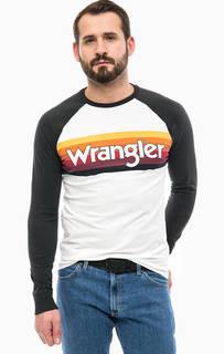 Хлопковая футболка с контрастными рукавами Wrangler
