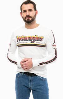 Хлопковая футболка с контрастным принтом Wrangler