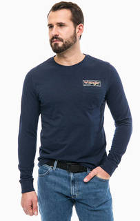 Синяя футболка с карманом и принтом Wrangler