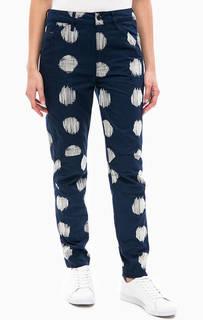 Синие зауженные джинсы Pharrell Williams x G-Star Elwood X25 3D с вышивкой
