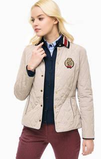 Легкая бежевая куртка на кнопках Lion OF Porches