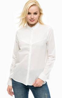 Рубашка из хлопка с воротником-стойкой Mustang