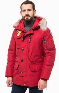 Красный пуховик KODIAK с капюшоном Parajumpers