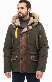 Зимний пуховик FORREST с кожаными вставками Parajumpers