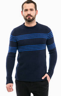 Синий трикотажный свитер Drykorn